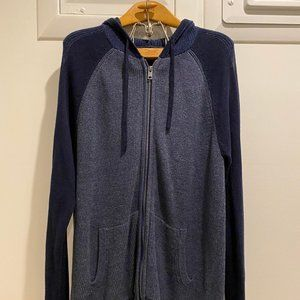 NEW Express Full Knit Sweater Two Tone Blue